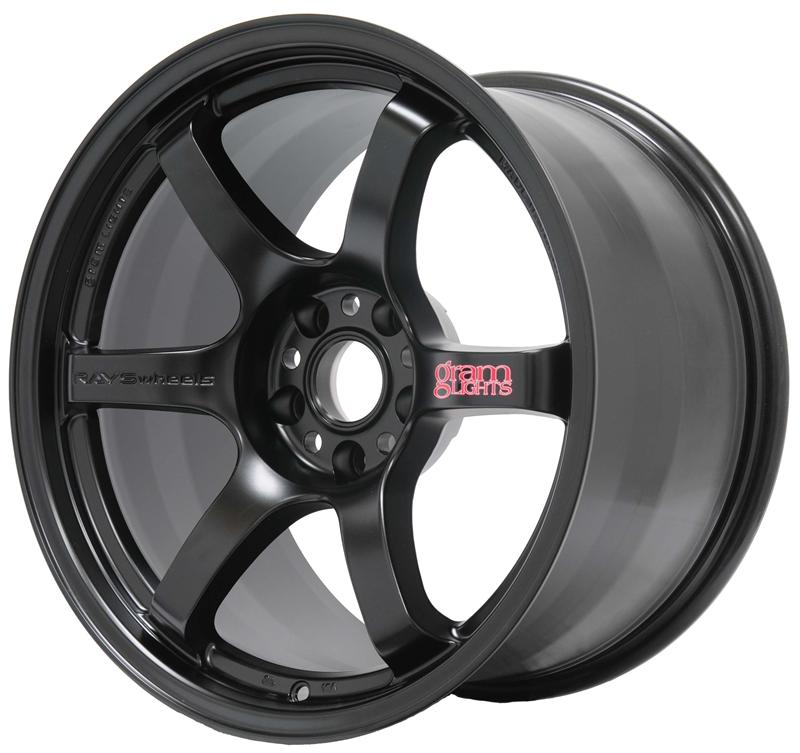 Gram Lights 57DR 18x8.5 +37 5x114.3 in Semi Gloss Black