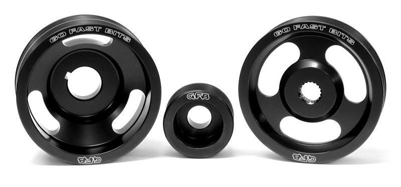 Go Fast Bits Under-Drive Pulley Set - 3 Pulleys and Belts - Forester XT 03-08