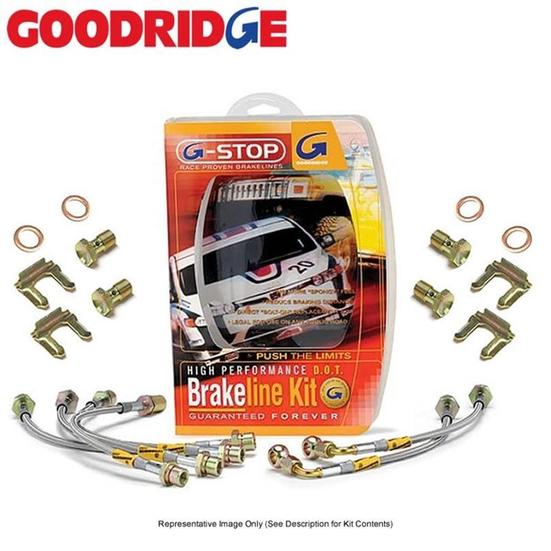 Goodridge 08+ WRX, STI G-Stop Brake Lines