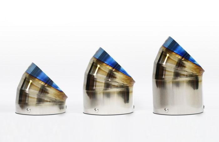 GReddy Burnt Titanium Turndown Muffler Tip - 105mm Diameter 120mm Length