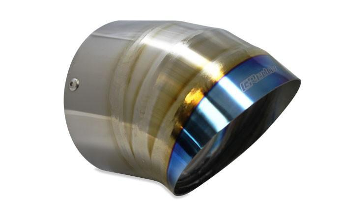 GReddy Burnt Titanium Turndown Muffler Tip - 115mm Diameter 150mm Length