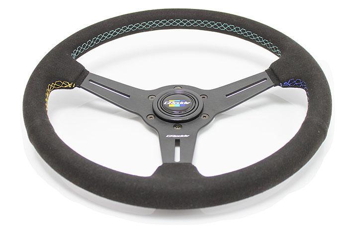 GReddy GPP 3 Spoke 340mm Black Suede Steering Wheel