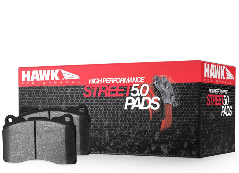 Hawk HPS 5.0 Front Brake Pads for 2017+ Civic Type R, 04-17 STi, 03+ EVO