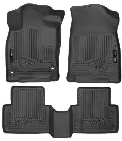 Husky WeatherBeater Black Floor Liners Combo for 2016+ Honda Civic & Type R (4DR)