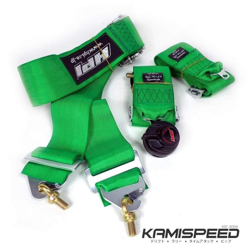 HPI 4-Point FIA-Approved Lime Green Racing Safety Harness