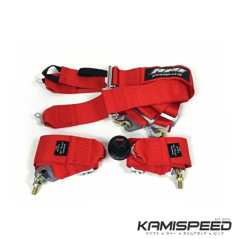 HPI 4-Point FIA-Approved Red Racing Safety Harness