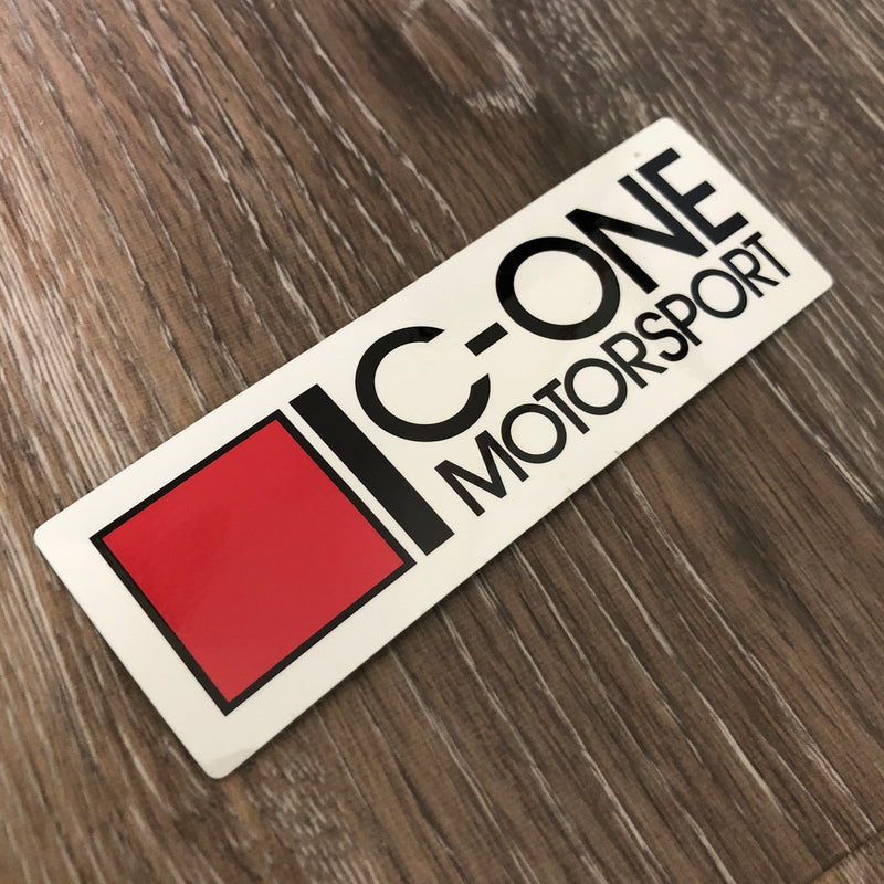 C-One Small White Silhouette Decal