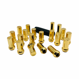 Kyokugen Gold Plated 42mm Lug Nuts in 12x1.50 (20 Pack)