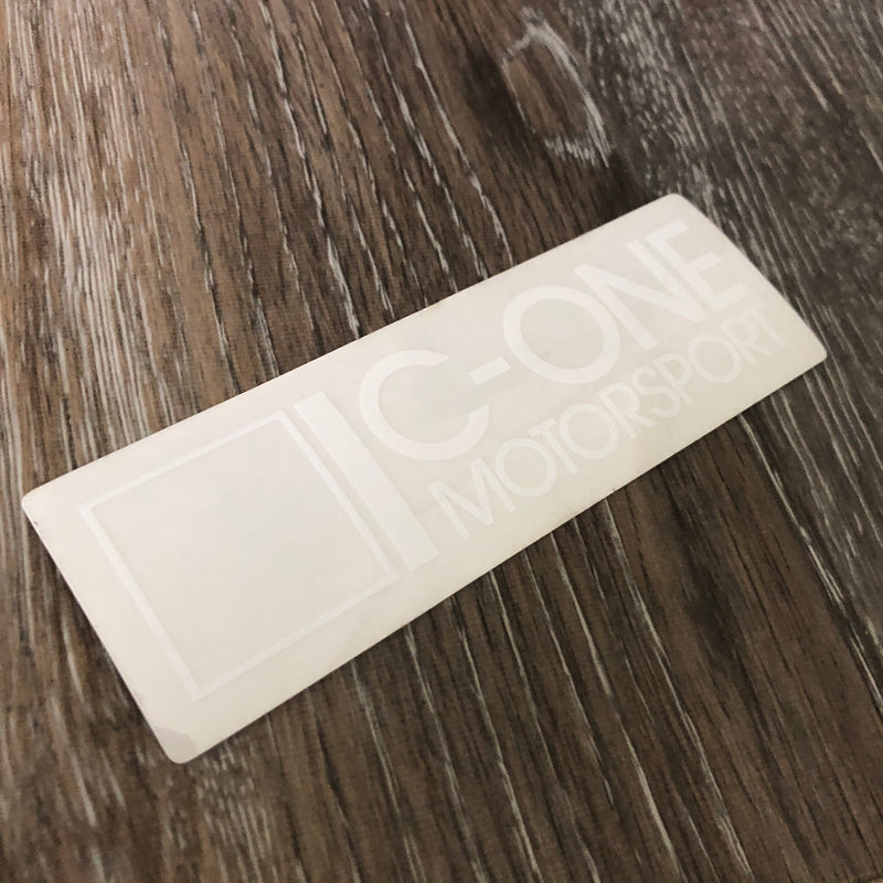 C-One Small White Decal