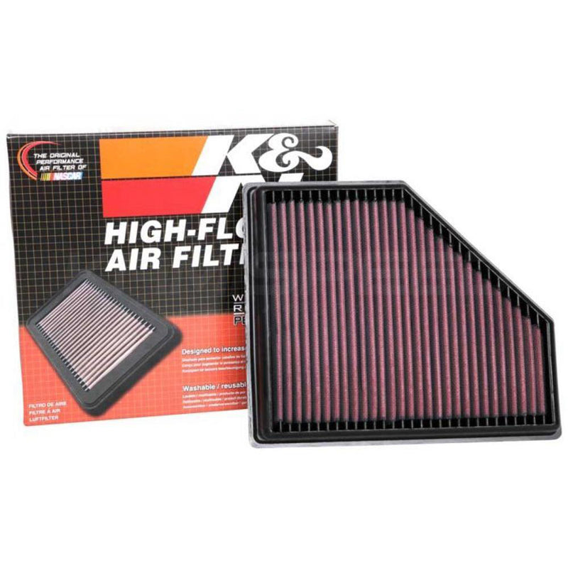 K&N Reusable High-Airflow Air Intake Filter | 2020+ Toyota GR Supra DB42 A90