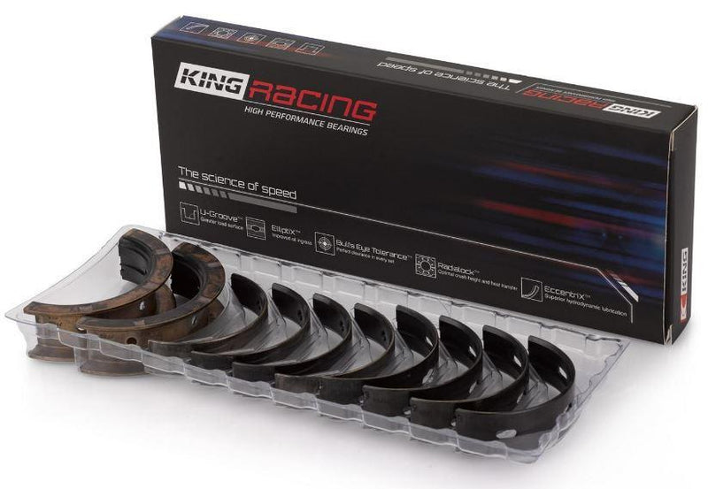 King STDX Crank Main Bearing Set .001in (extra oil clearance)  | Subaru EJ20/EJ22/EJ25