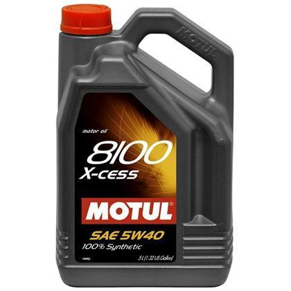 Motul 5L Synthetic Engine Oil 8100 X-Cess 5W40