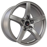 Option Lab R555 Noble Grey Wheel in 18x9.5 +38 5x100 (73.1mm)