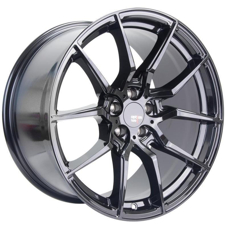 Option Lab R716 Gotham Black Wheel in 18x8.5 +35 5x114.3 (73.1mm)