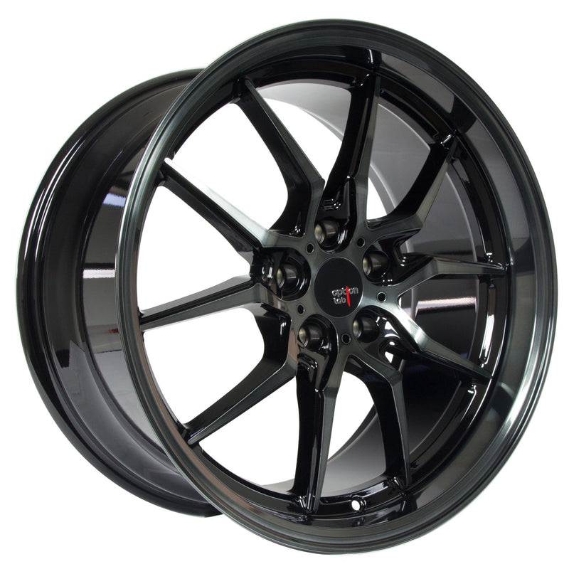 Option Lab S718 Apex Shadow Wheel in 19x9.5 +35 5x114.3 (73.1mm)