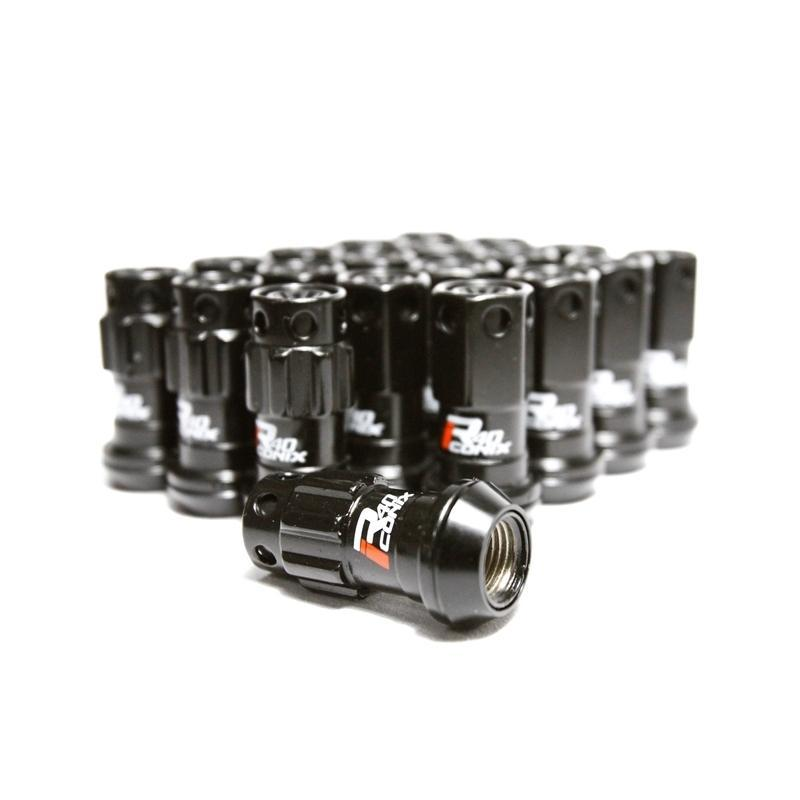 Project Kics R40 iConix Lug Nuts w/ Plastic Caps - 12X1.25 - Black