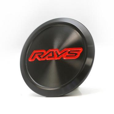 Rays ZE40 and TE37 ULTRA Center Caps - Black w/ Red Logo