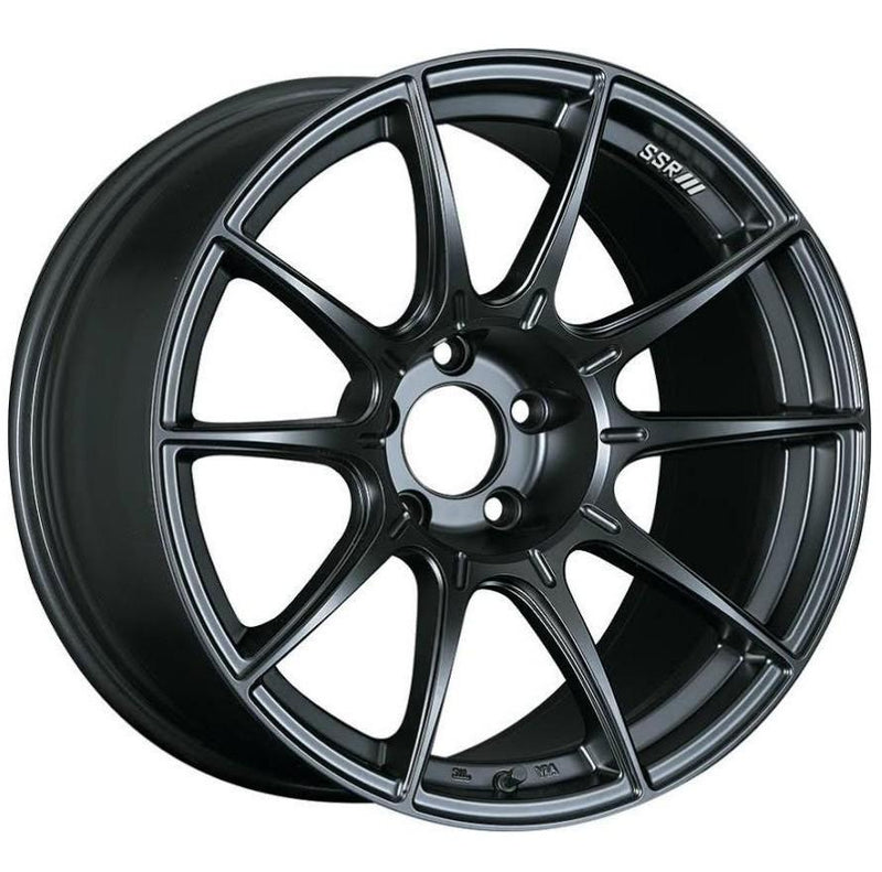 SSR GTX01 18x10.5 +22 5x114.3 in Flat Black
