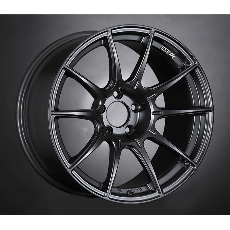 SSR GTX01 18x9.5 +15 5x114.3 Flat Black Wheel