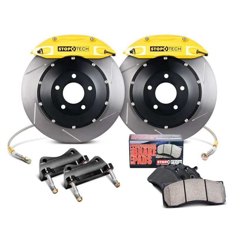StopTech Front Big Brake Kit for the Honda CR-Z ZF1 ZF2 in Yellow