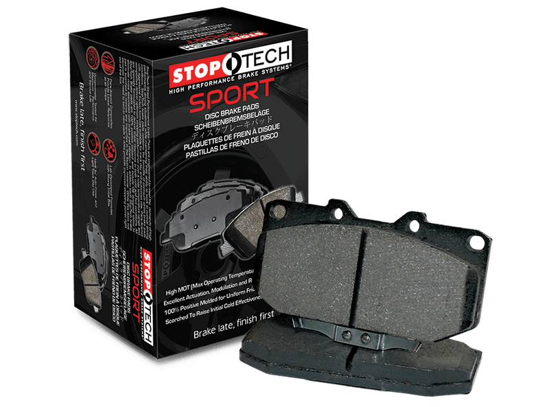 Stoptech Sport Front Brake Pads - 17+ Civic Type R FK8, 04+ STi, & 03+ Evo