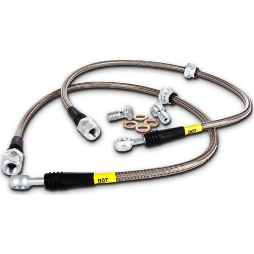 StopTech Stainless Steel Rear Brake Lines - 2008-2013 STI & 2013+ FR-S & BRZ