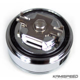 Tomei Japan Oil Filler Cap in Buff Silver for Mitsubishi