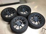 USED SET: Volk Racing ZE40 18x10 +40 5x100 Matte Blue Gunmetal