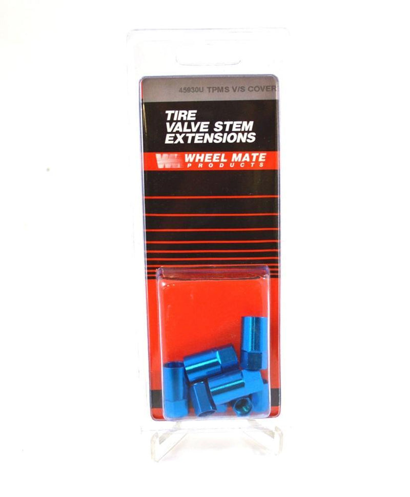 Wheel Mate TPMS Color Valve Stem Sleeve and Cap Kit blue
