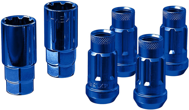 Wheel Mate Monster Locking Lug Nut Set of 4 - Blue 14x1.50