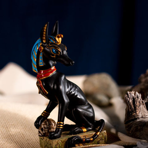 Anubis hand painted statue