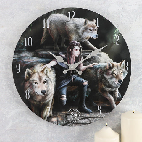Anne Stokes Power Of Three Clock