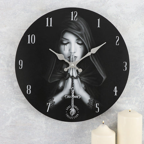 Anne Stokes Gothic Prayer Wall Clock
