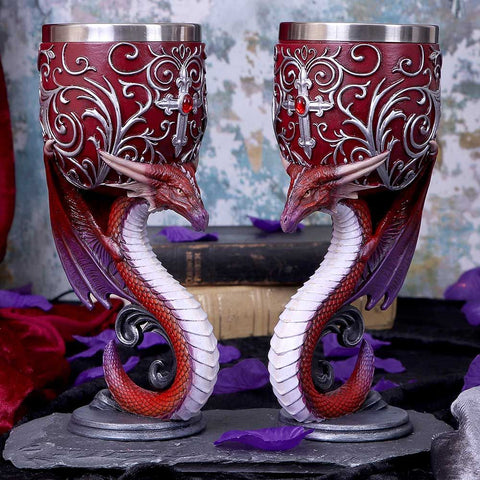 Nemesis Now Dragons Devotion Goblets