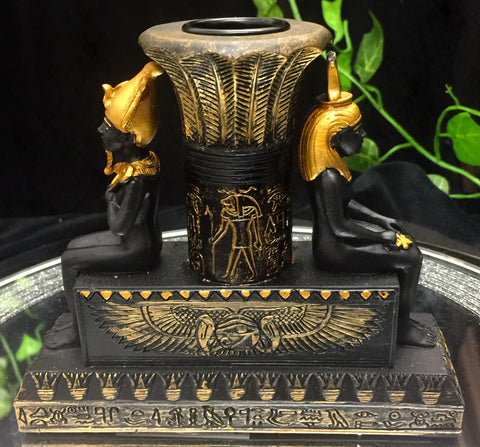 Isis and Osiris Candle Holder