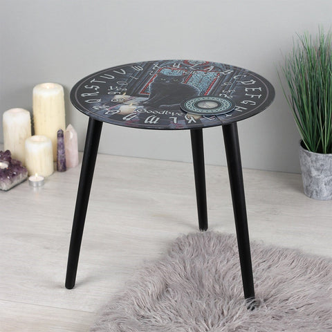 Lisa Parker Sacred Circle Glass Spirit Board Table