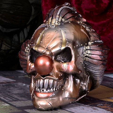 Mechanical Laughter Steampunk Clown Skull
