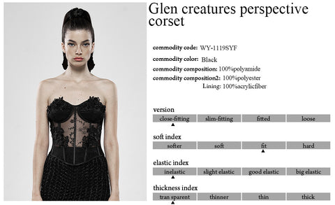 Punk Rave Black Palace Corset WY-1119