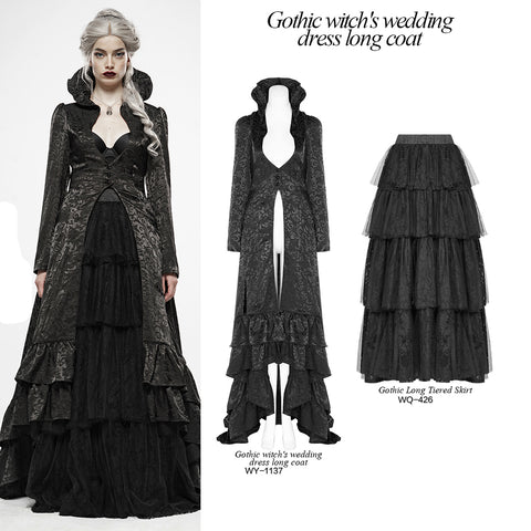 Punk Rave Obsidian Queen Coat WY-1137 Outfit