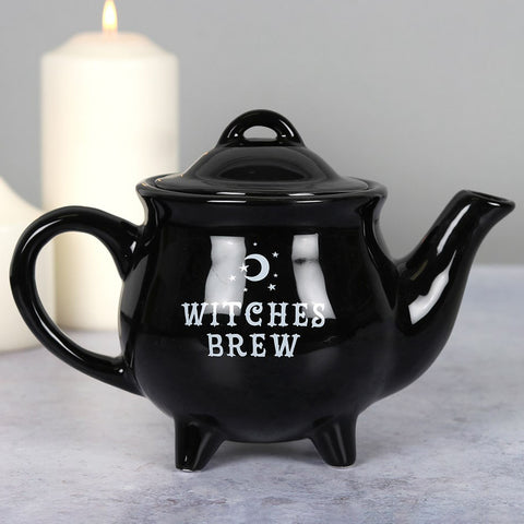 Witches Brew Black Ceramic Tea Pot