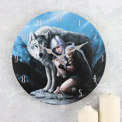 Anne Stokes Protector Clock