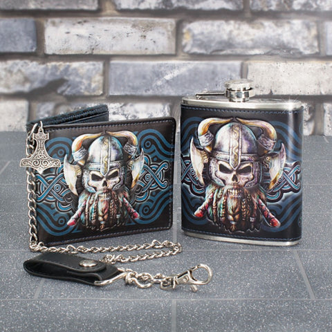Danegeld Chained Wallet and Hip Flask