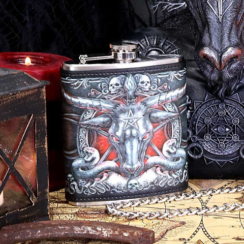 baphomet-hip-flask