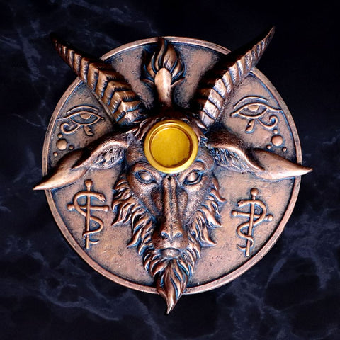 Baphomet's Prayer Incense and Candle Holder