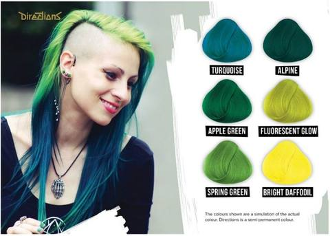 Green Directions Hair Dye