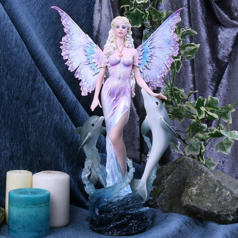 Delphinia Fairy and Dolphin Figurine
