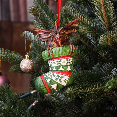 Gremlins Mohawk in Stocking Christmas Tree Decoration