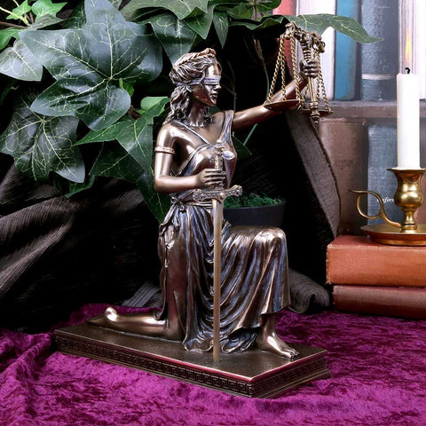 Lady Justice. Bronze Lady Justice Ornament