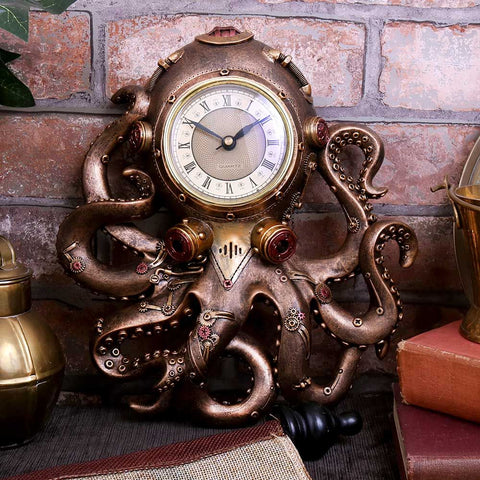 Octoclock Steampunk Octopus Clock