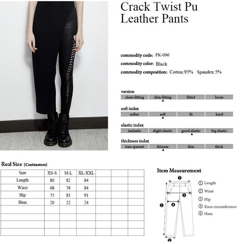 Punk Rave Delirium Leggings Size Chart 2